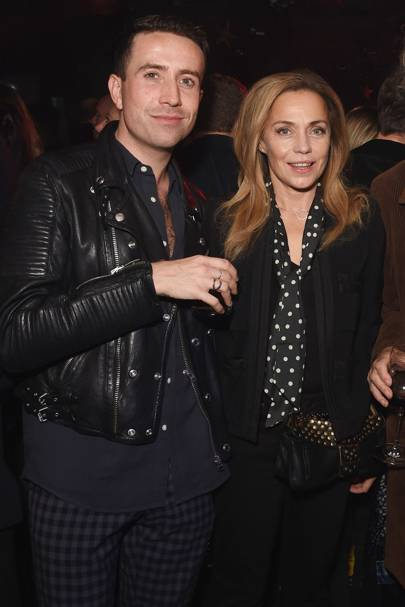 Nick Grimshaw and Jeanne Marine