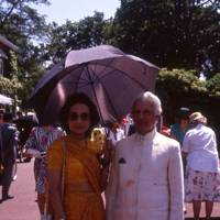 The Maharanee Rasgotre and the Indian High Commissioner the Maharaja Rasgotre