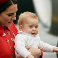 The Duchess of Cambridge and Prince George of Cambridge