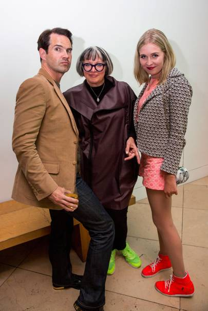 Jimmy Carr, Philippa Perry and Flo Perry