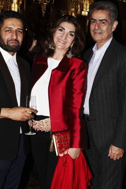 Osman Yousefzada, Fatima Maleki and Eskandar Maleki