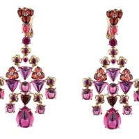 Garnet, rubies and rose gold earrings, POA, Chaumet