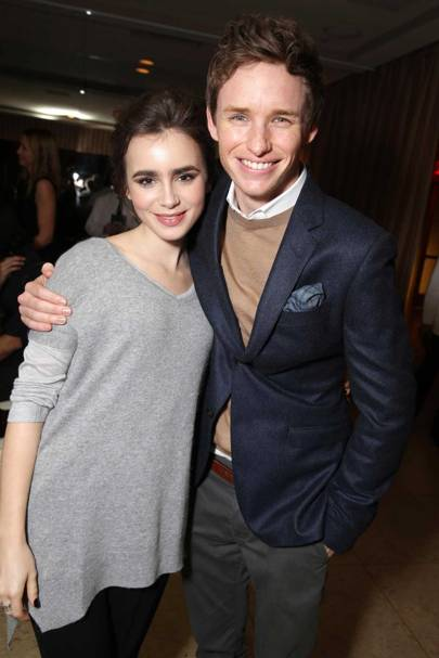 Lily Collins and Eddie Redmayne