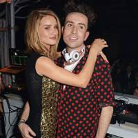 Rosie Huntington-Whiteley and Nick Grimshaw