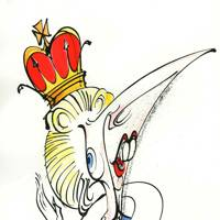 Milk Snatcher, Gerald Scarfe - The Thatcher Drawings
