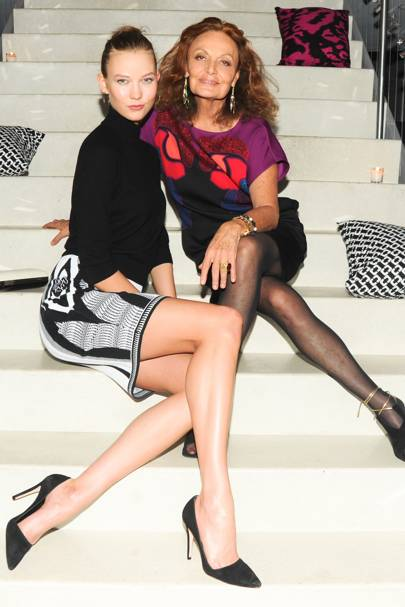 Karlie Kloss and Diane von Furstenberg
