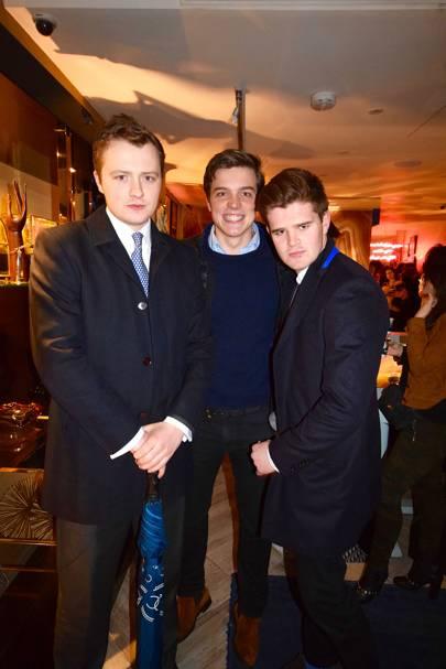 Harry Mann, Billy Richardson and Charlie Kingsman