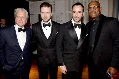 Michael Douglas, Justin Timberlake, Tom Ford and Samuel L Jackson