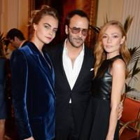 Cara Delevingne, Tom Ford and Clara Paget