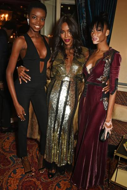 Maria Borges, Naomi Campbell and Winnie Harlow