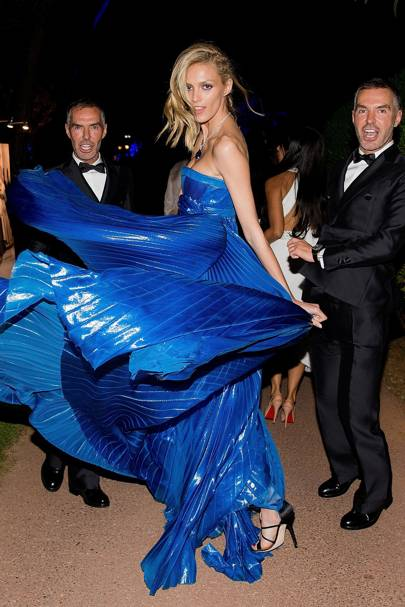 Dan Caten, Anja Rubik and Dean Caten