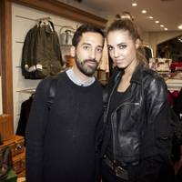 Julien Miachon and Amber Le Bon