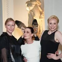 Jade Parfitt, Erin O'Connor and Gwendoline Christie