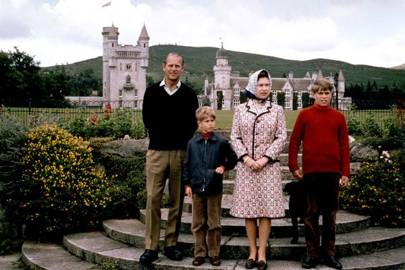 Prince Philip, Prince Edward, the Queen and Prince Andrew, 1972