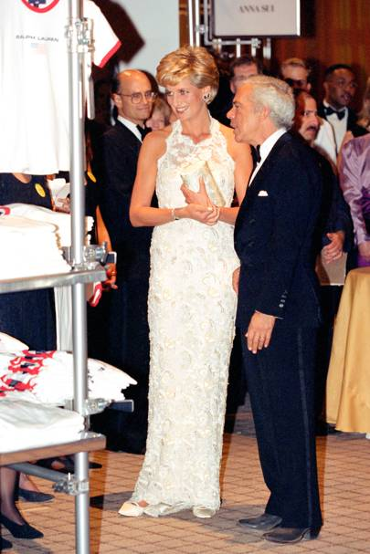 1996 - Princess Diana and Ralph Lauren at a Breast Cancer Research fundraising event