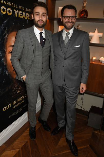 Douglas Booth and Amaury Vinclet