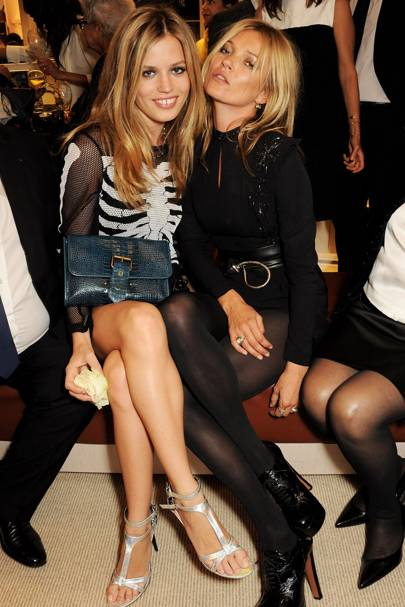 Georgia May Jagger and Kate Moss