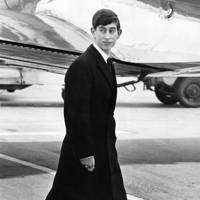 The Prince of Wales at the airport in 1965, aged 17