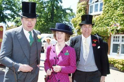 David Bowes-Lyon, Mrs David Bowes-Lyon and the Hon Gerald Maitland-Carew