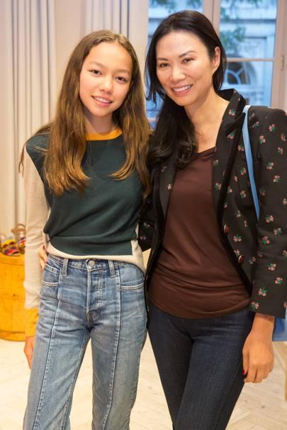 Chloe Murdoch and Wendi Deng