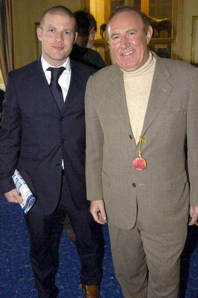 Dermot O'Leary and Andrew Neil in 2004
