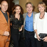 Sir Patrick Stewart, Sunny Ozell, Lord Lloyd-Webber and Lady Lloyd-Webber