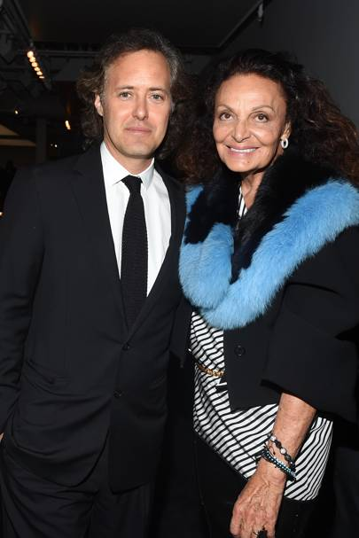 David Lauren and Diane von Furstenberg