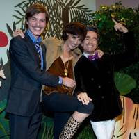 Elie Top, Inès de la Fressange and Vincent Darré