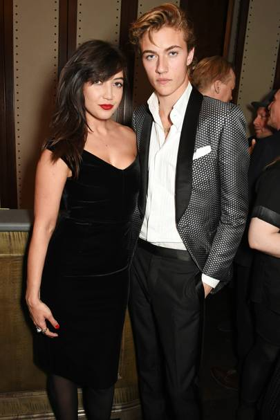 Daisy Lowe and Lucky Blue Smith