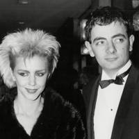 Leslie Ash and Rowan Atkinson
