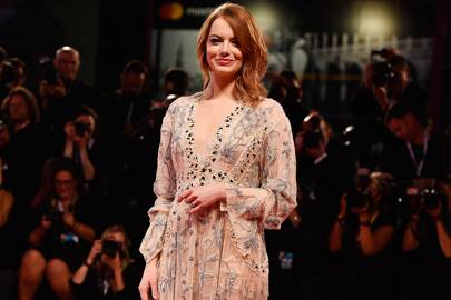 Emma Stone at The Favourite premiere