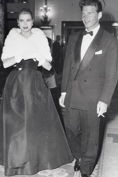 Grace Kelly and Jean-Pierre Aumont in 1955