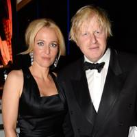 Gillian Anderson and Boris Johnson