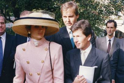 Lady Carolyn Warren, the Hon Harry Herbert and John Warren