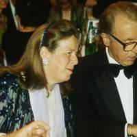 Lady Bland and Sir David Frost