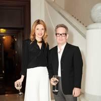 Martina Mondadori and Tom Hollander