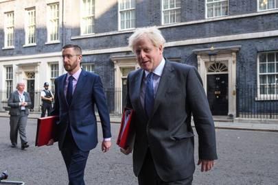 Simon Case CVO with his boss, Boris Johnson MYS