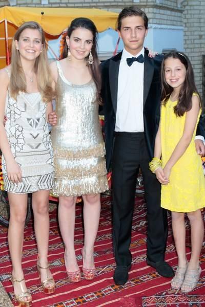 Allegra Henderson, Atalanta Henderson, Felix Henderson and Athena Henderson