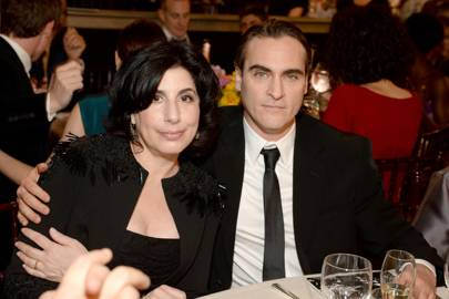 Sue Kroll and Joaquin Phoenix