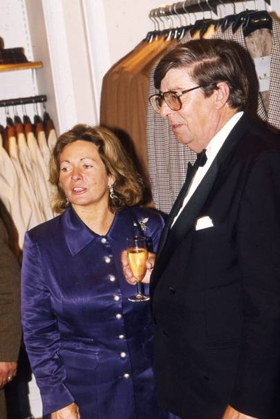 The Hon Mrs Simon Howard and Lord Tryon
