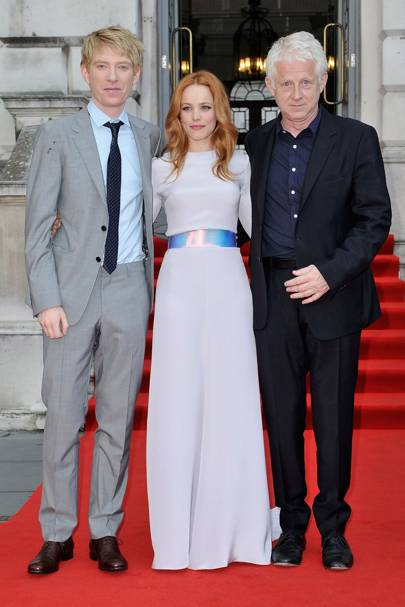 Domhnall Gleeson, Rachel McAdams and Richard Curtis
