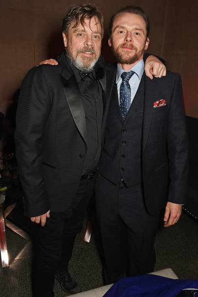 Mark Hamill and Simon Pegg