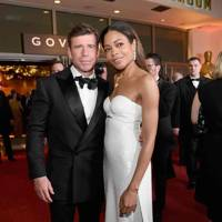 Taylor Sheridan and Naomie Harris