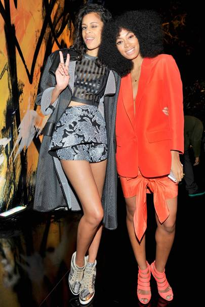Aluna Francis and Solange Knowles