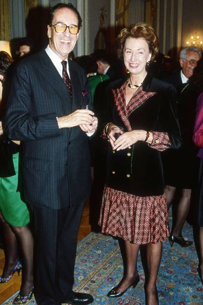 Count Wolfgang zu Schallenberg and Mrs Thomas Klestil
