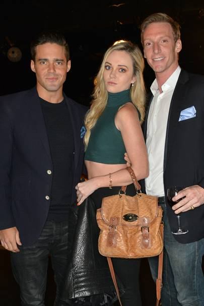 Spencer Matthews, Jacqueline Wedderburn-Maxwell and Max Keble-White