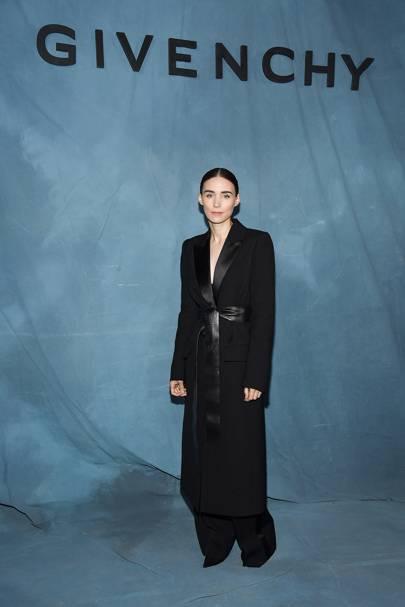 Rooney Mara at the Givenchy show.