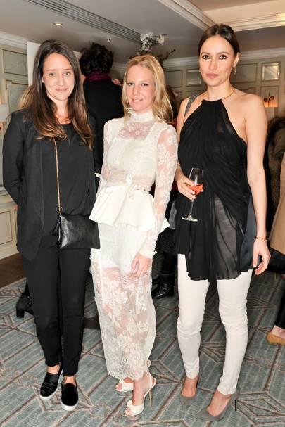 India Langton, Alice Naylor-Leyland and Sasha Volkova