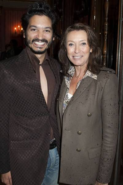 Raj Ghatak and Cherie Lunghi