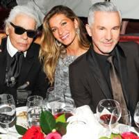Karl Lagerfeld, Gisele Bundchen and Baz Luhrmann